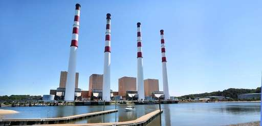 The Northport power station, as seen on Aug.