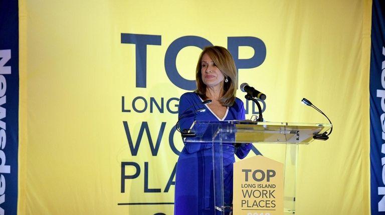 Carol Silva hosts the Long Island Top Workplaces