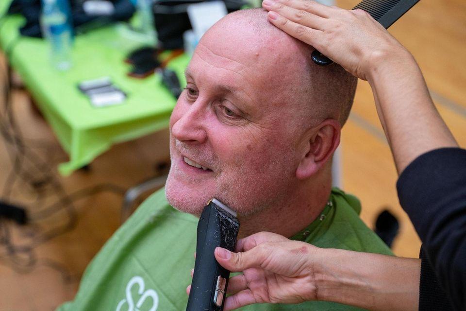 Roy Steinhilber, 56, of Greenlawn gets his mustache