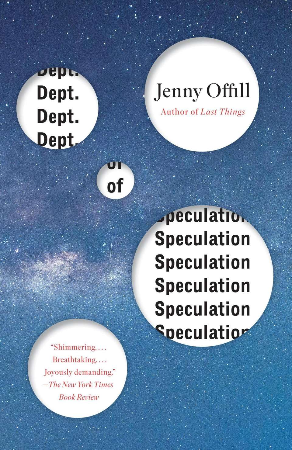 """Dept. of Speculation"" by Jeny Offill (Vintage, 2014)"