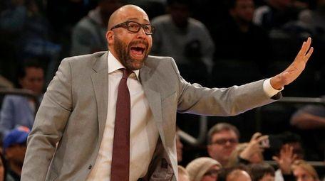 Knicks head coach David Fizdale in the fourth