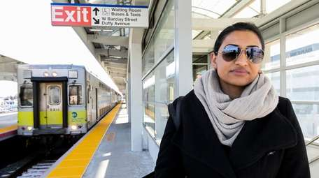 Asma Malik, who takes the LIRR to work