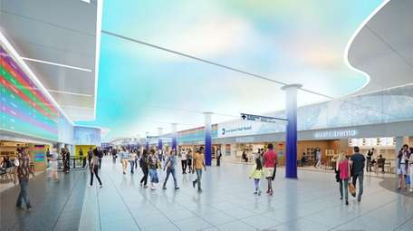 An atrist's rendering shows a wider main concourse