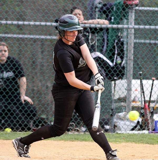 Farmingdale's Kat Zabielski cracks an RBI triple against