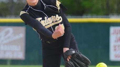 St. Anthony's Michelle Carbone delivers to the plate
