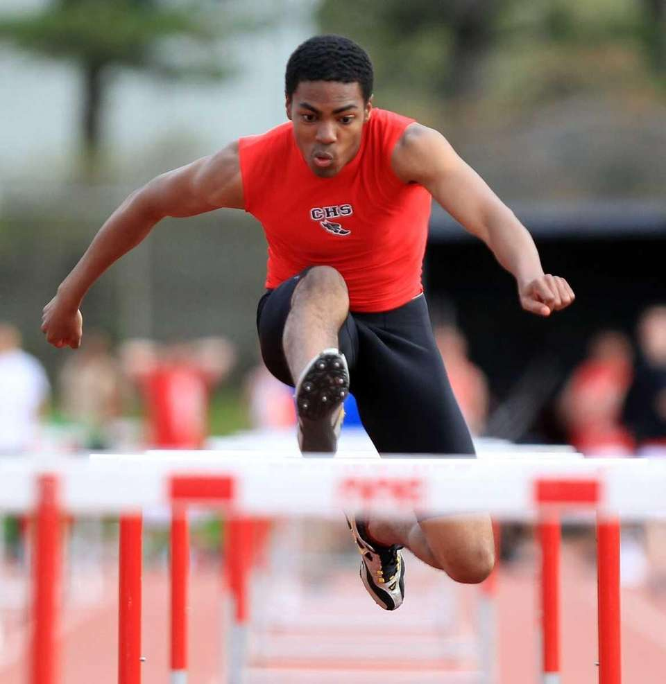 Connetquot's Rashaad Barrett on his way to a