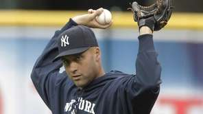 Derek Jeter joined his Yankees teammates in feeling