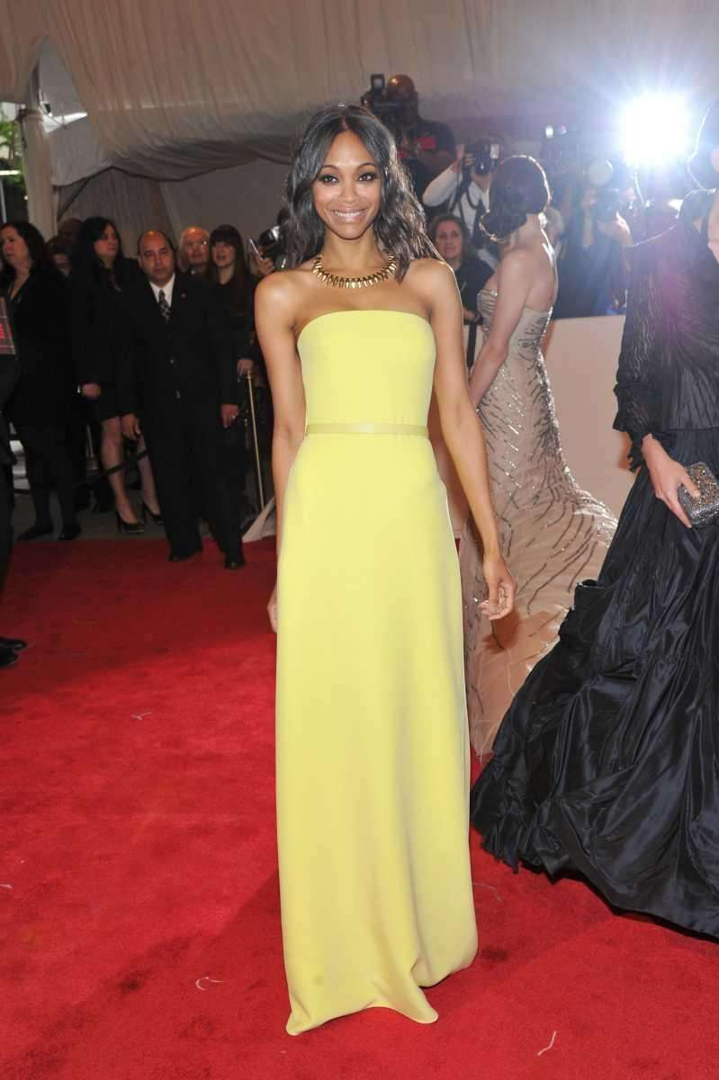 Actress Zoe Saldana attends the