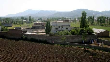 A view of Osama bin Laden's compound in