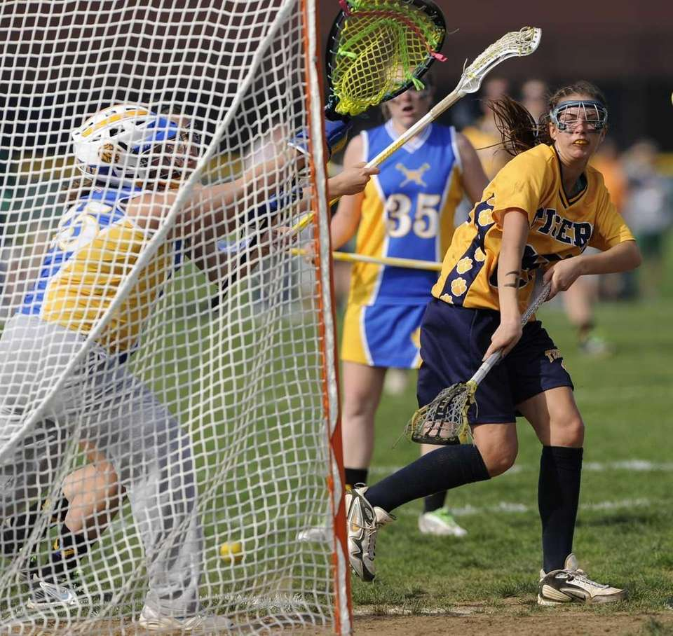 Northport attacker Kiera McNally scores another goal past