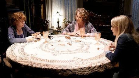 Sophia Lillis, playing Nancy Drew, left, Linda Lavin