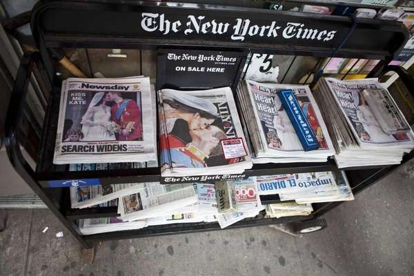 A newsstand in Manhattan. (April 30, 2011)