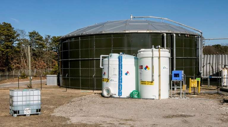 Leachate is also collected into two 860,000-gallon tanks