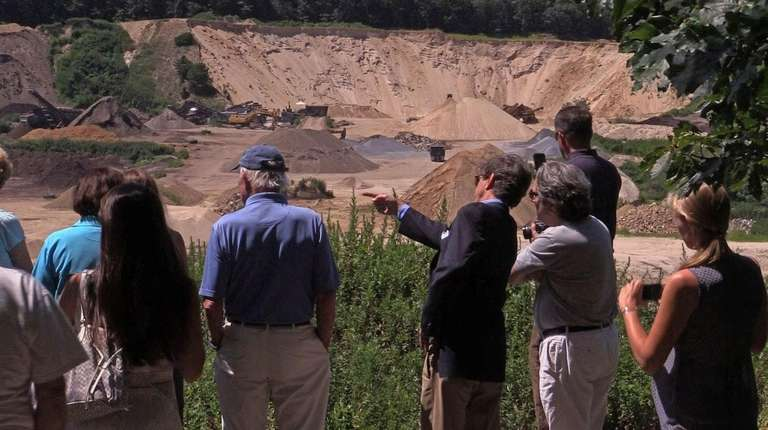 Residents opposed to the expansion of the Sand