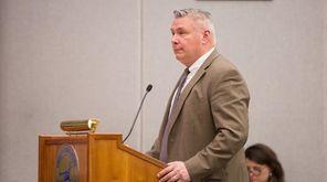 Suffolk County Parks Commissioner Philip Berdolt speaks during
