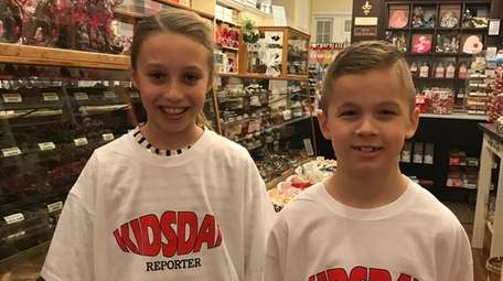 Kidsday reporters Aniela Marino and Connor Batterberry of