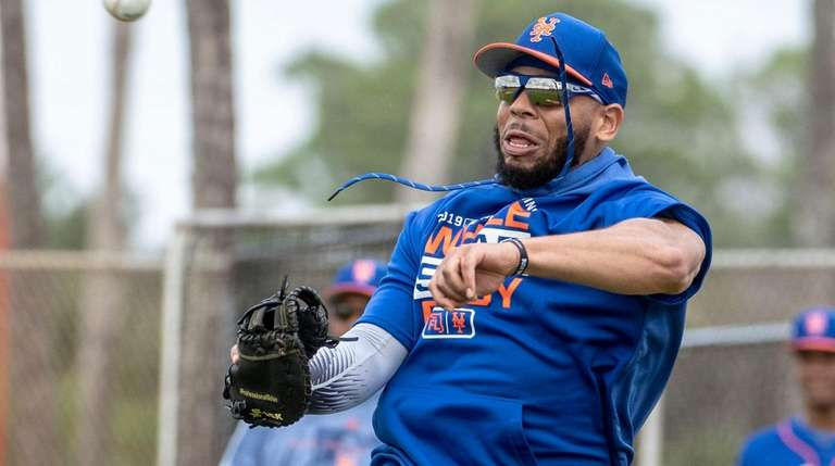 The Mets' Dominic Smith during a spring training