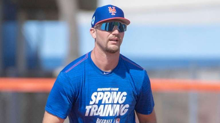 Mets first baseman Pete Alonso during a spring