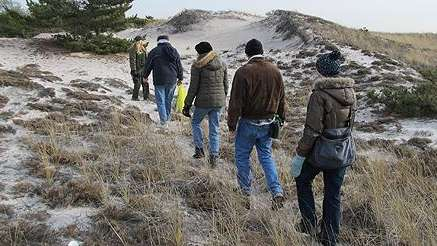 Visitors to the Fire Island National Seashore