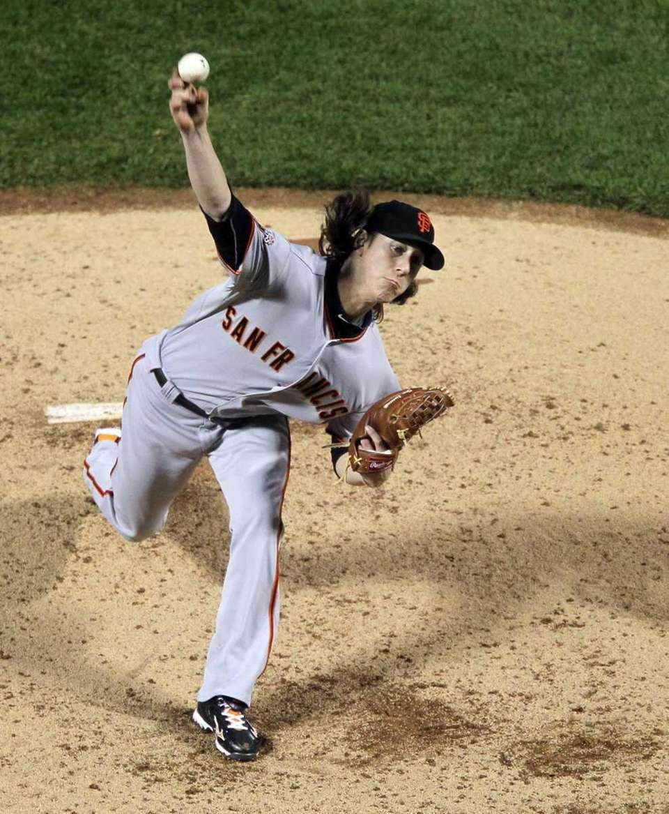 Tim Lincecum #55 of the San Francisco Giants