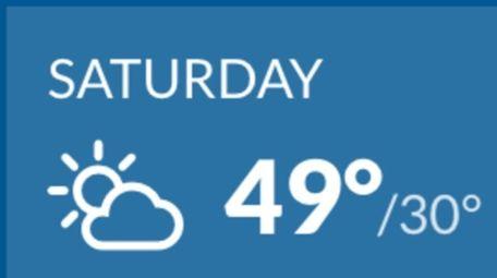 Sunny skies on LI on Saturday will bring