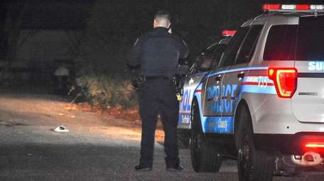 Suffolk County police investigate on Winston Drive in