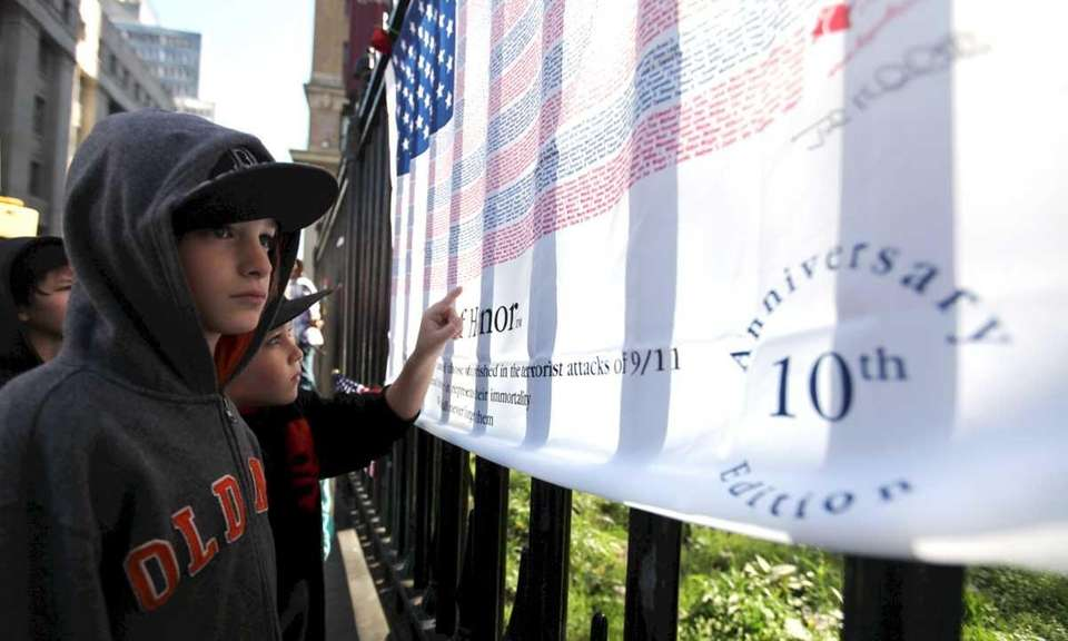 At left, Raymond Forrester, 10, of Methuen, Mass.,