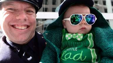 NYPD officer Joe Gallagher and his son Hudson,