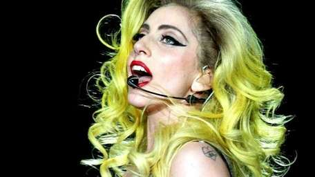 Lady Gaga performs at the Prudential Center April