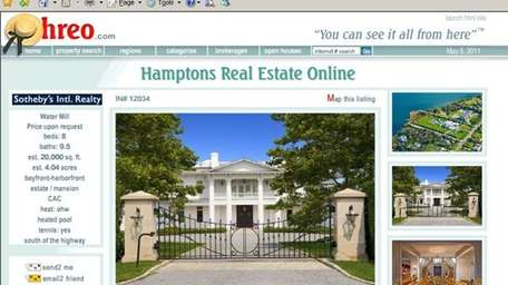 A Hamptons mansion made online real estate marketplace