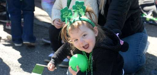 Savannah Iacono, 2, of Farmingville, at the St.