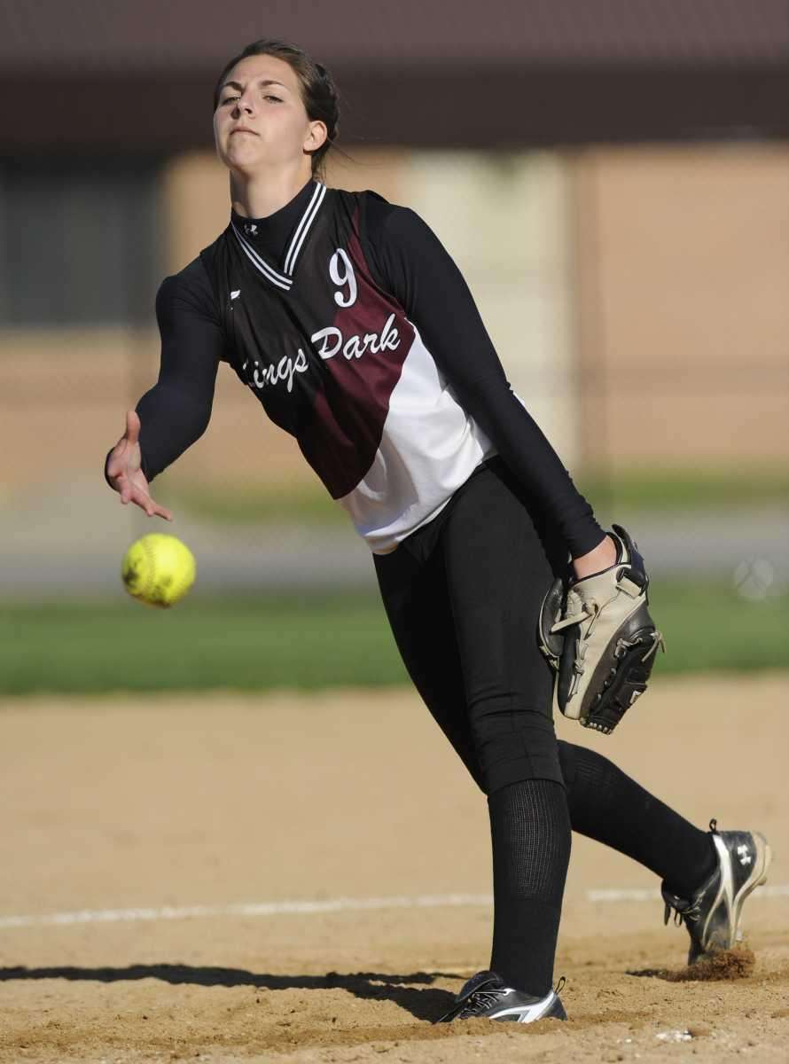 Kings Park pitcher Lindsay Taylor delivers against Deer