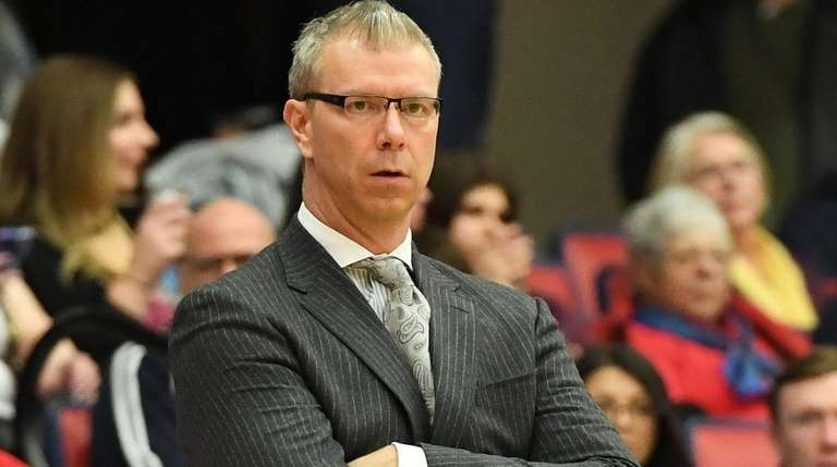 Coach Jeff Boals, 55-41 at Stony Brook, played