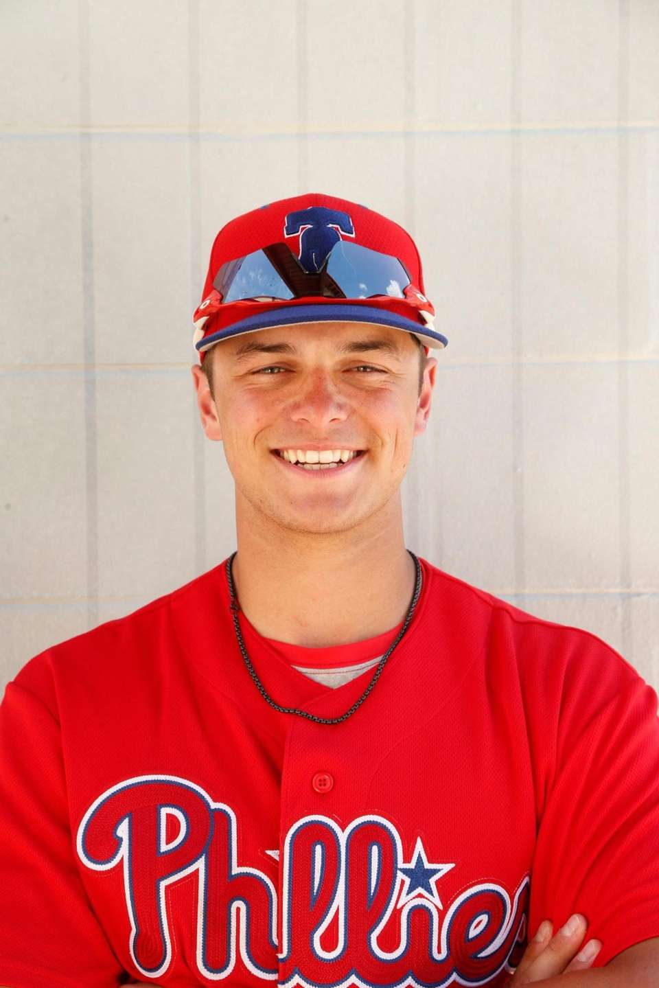 Philadelphia Phillies prospect Logan O'Hoppe poses for a