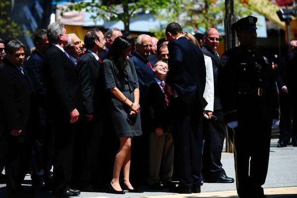 President Obama meets 10-year-old Christopher Cannizzaro, who lost