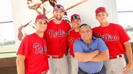 From left, Philadelphia Phillies prospects and Long Islanders