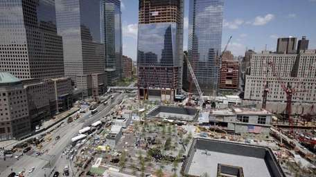 Ground Zero in Manhattan. (May 5, 2011)