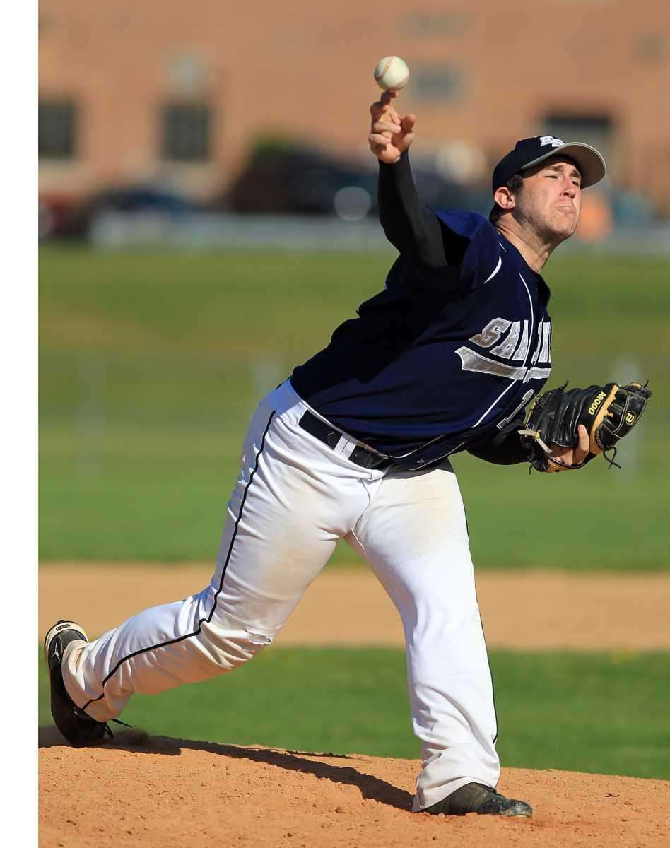 Eastport's starting and winning pitcher Joe Palmeri (18).