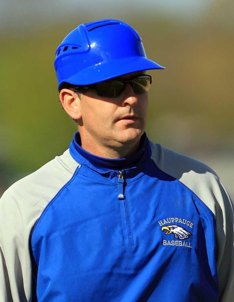 Hauppauge varsity baseball head coach Kevin Giachetti.