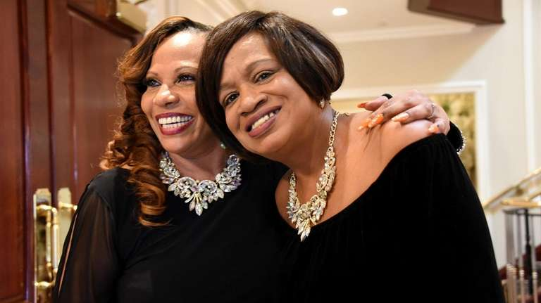 Norma Davis, left, and Jacqueline Harris, right, both