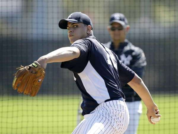 New York Yankees pitcher Dellin Betances pitches during