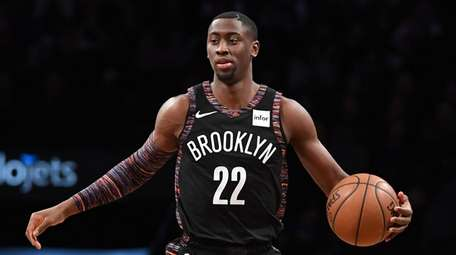 Brooklyn Nets guard Caris LeVert dribbles the ball