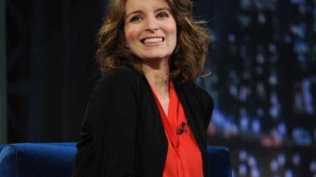 Actress Tina Fey visits