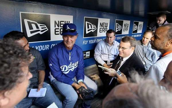 Manager Don Mattingly of the Los Angeles Dodgers