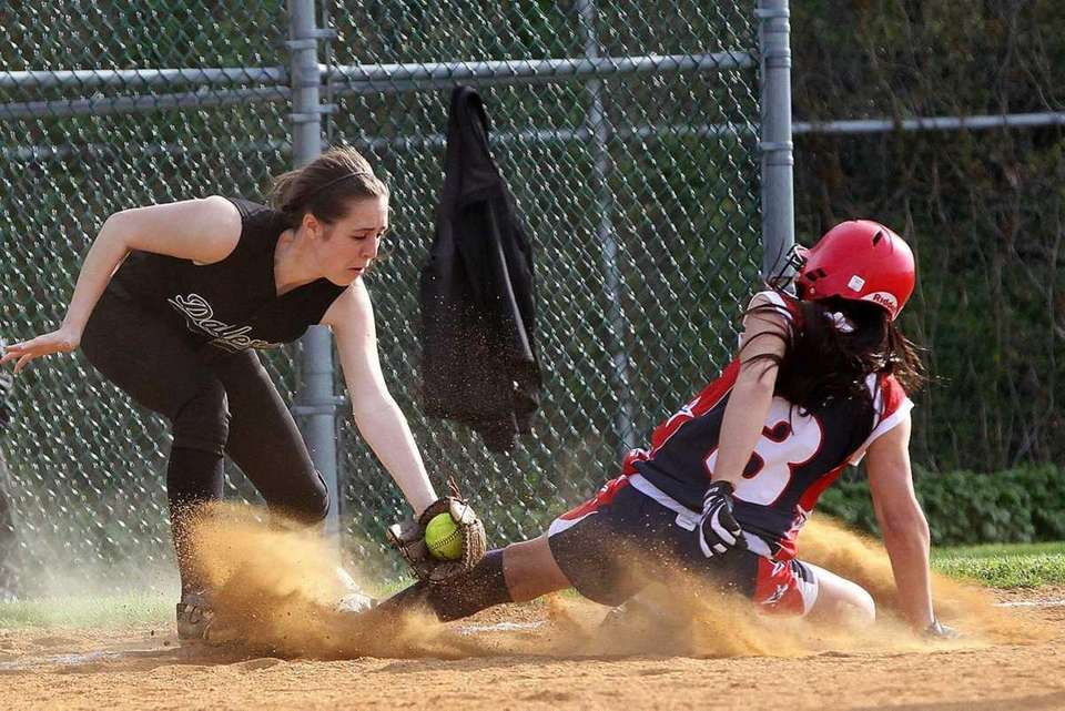 MacArthur's Briana Lombardo called out at third by