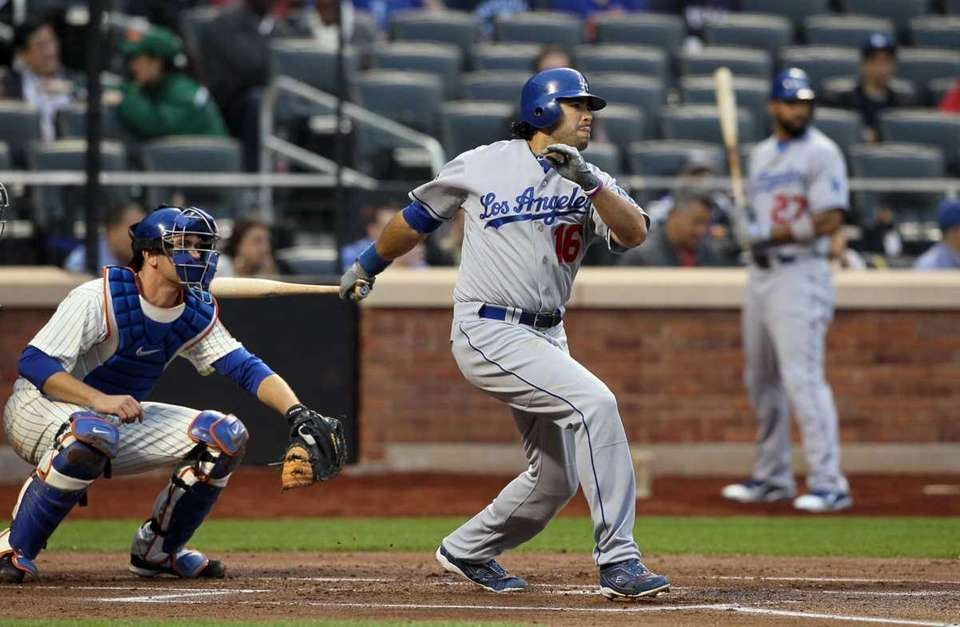 Andre Ethier #16 of the Los Angeles Dodgers