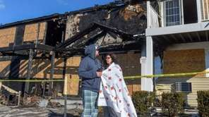 A woman trapped by fire in a Ronkonkoma