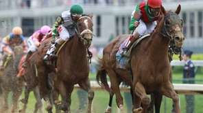 John Velazquez rides Animal Kingdom to victory during