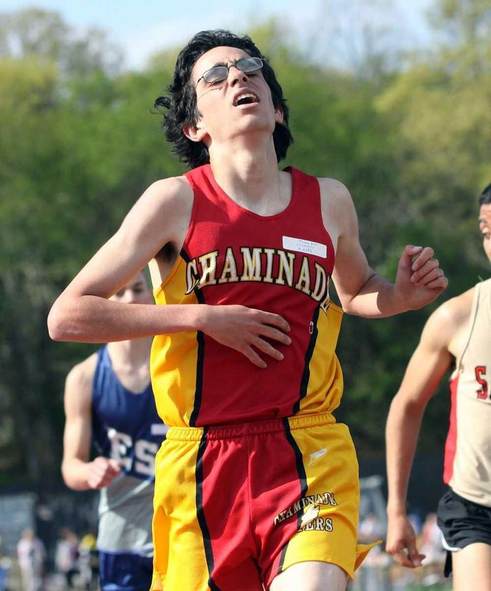 Chaminade's Thomas Awad wins the boy's 3200 meters
