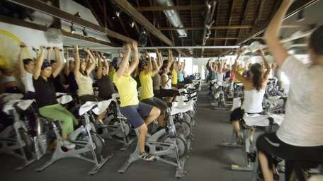SoulCycle in Bridgehampton, offers spinning classes. (2010)